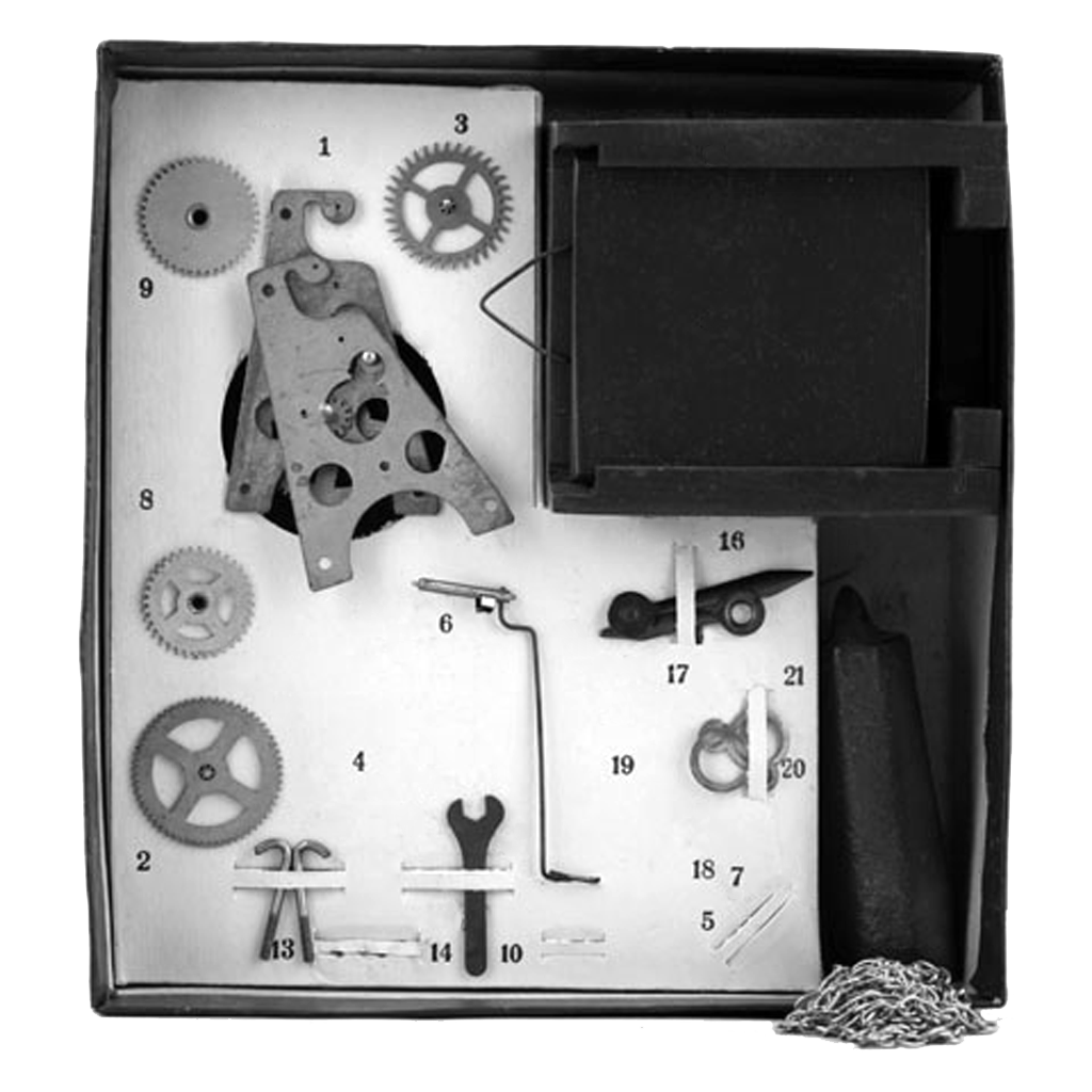 polytechnic toy The Young Clockmaker, Serdobsk Clock Factory, made in USSR, 1963